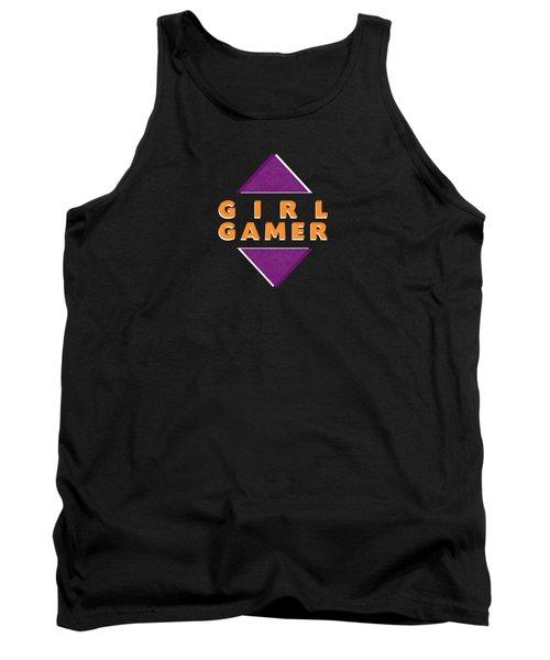 Girl Gamer Tank Top by Linda Woods