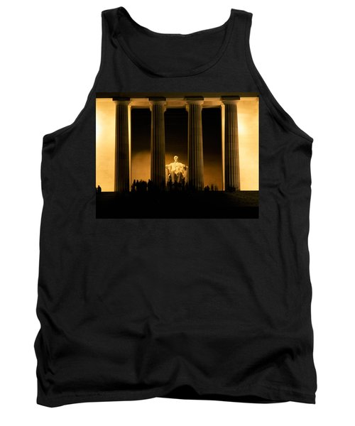 Lincoln Memorial Illuminated At Night Tank Top by Panoramic Images