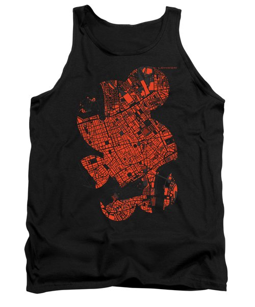 London Engraving Map Tank Top by Jasone Ayerbe- Javier R Recco
