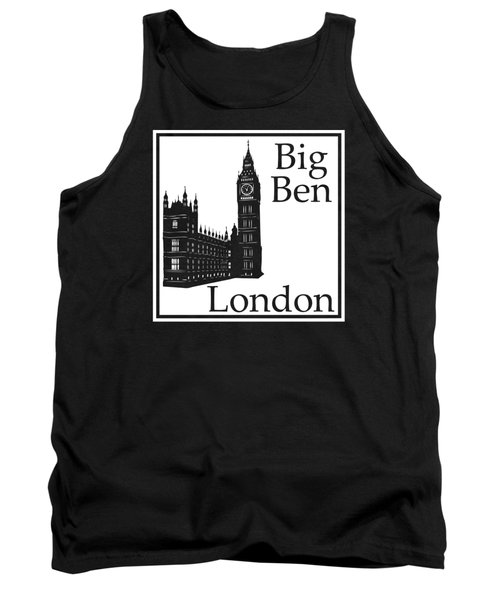 London's Big Ben In White Tank Top by Custom Home Fashions
