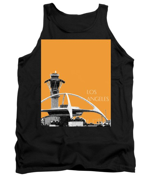 Los Angeles Skyline Lax Spider - Orange Tank Top by DB Artist