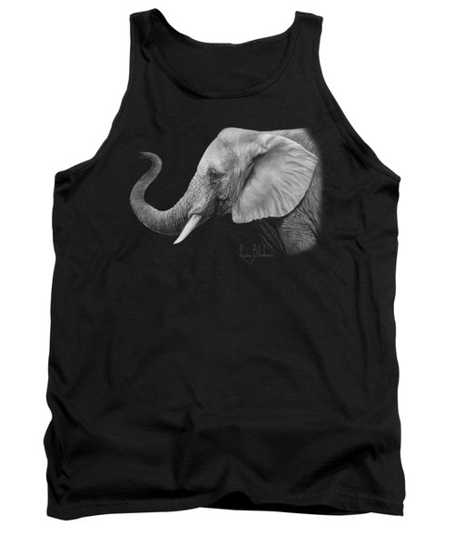 Lucky - Black And White Tank Top by Lucie Bilodeau