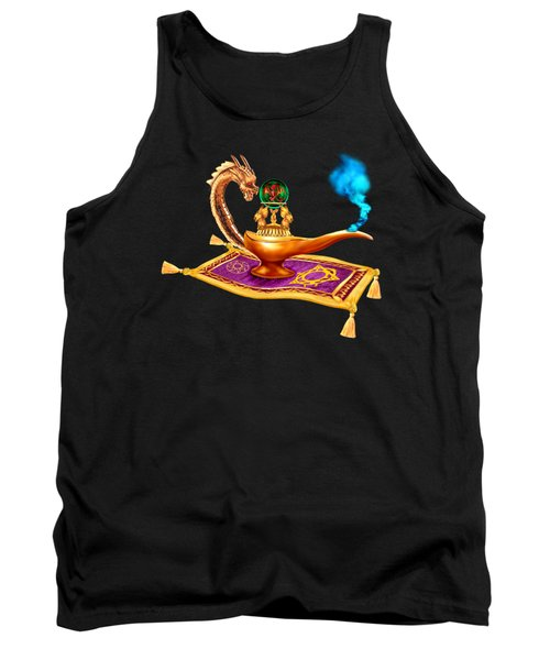 Magical Dragon Lamp Tank Top by Glenn Holbrook