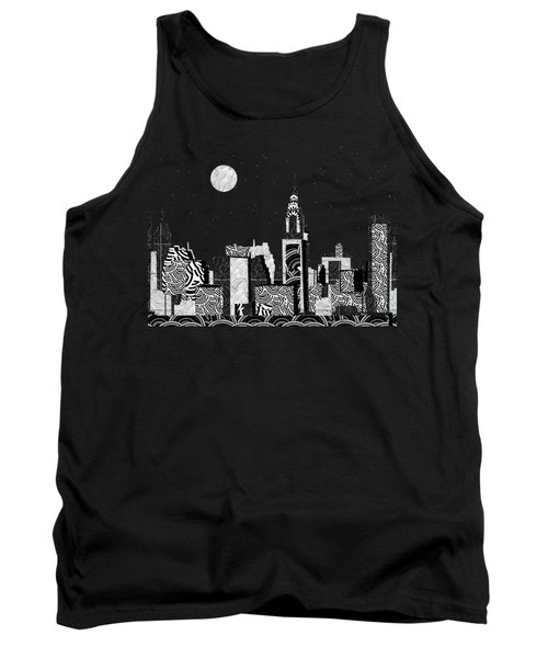 Manhattan At Night New York Swings Tank Top by Cecely Bloom