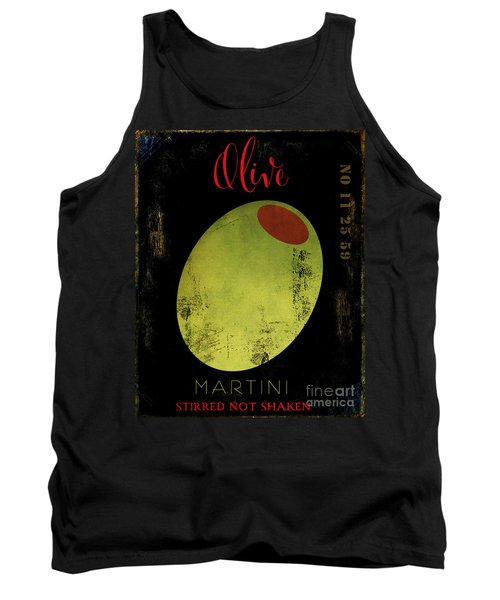 Martini Olive Tank Top by Mindy Sommers