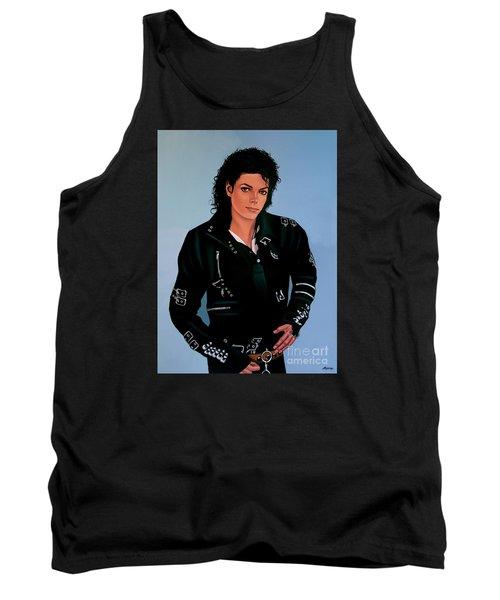 Michael Jackson Bad Tank Top by Paul Meijering