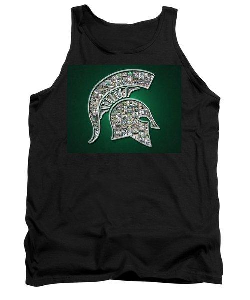 Michigan State Spartans Football Tank Top by Fairchild Art Studio