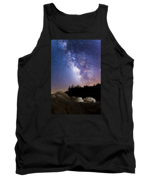 Milky Way Over A Western Diamondback Rattlesnake Tank Top by Chuck Brown