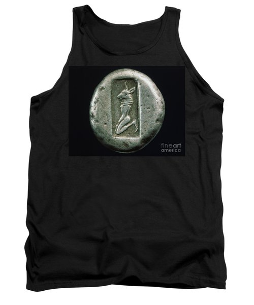 Minotaur On A Greek Coin Tank Top by Granger