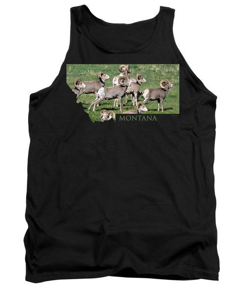 Montana -bighorn Rams Tank Top by Whispering Peaks Photography