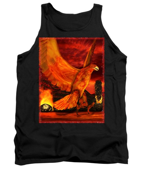 Myth Series 3 Phoenix Fire Tank Top by Sharon and Renee Lozen