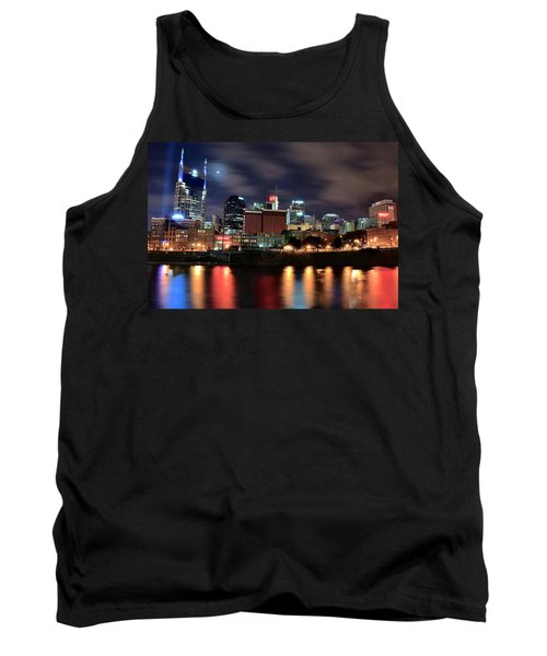 Nashville Skyline Tank Top by Frozen in Time Fine Art Photography
