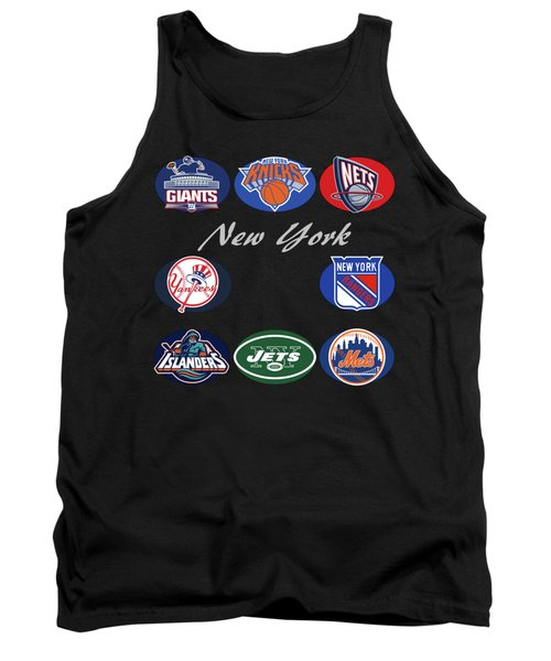 New York Professional Sport Teams Collage  Tank Top by Movie Poster Prints