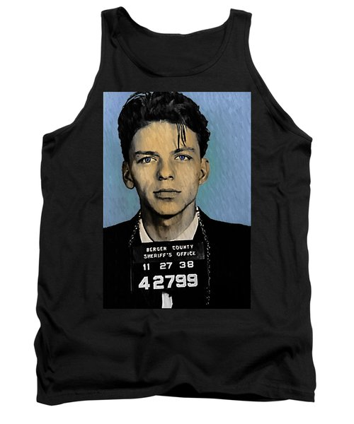 Old Blue Eyes - Frank Sinatra Tank Top by Bill Cannon
