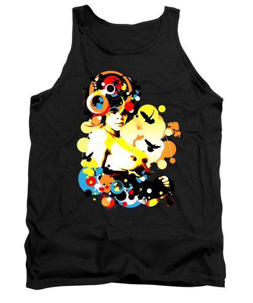 Onyx Doves Tank Top by Chris Andruskiewicz