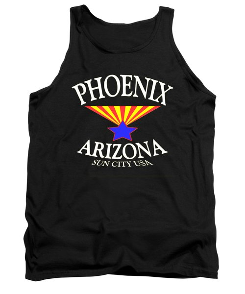 Phoenix Arizona Tshirt Design Tank Top by Art America Online Gallery