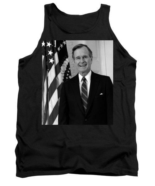 President George Bush Sr Tank Top by War Is Hell Store