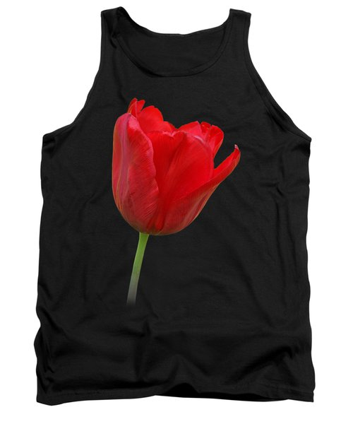 Red Tulip Open Tank Top by Gill Billington