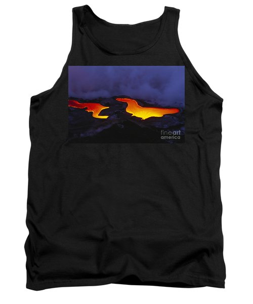 River Of Lava Tank Top by Peter French - Printscapes