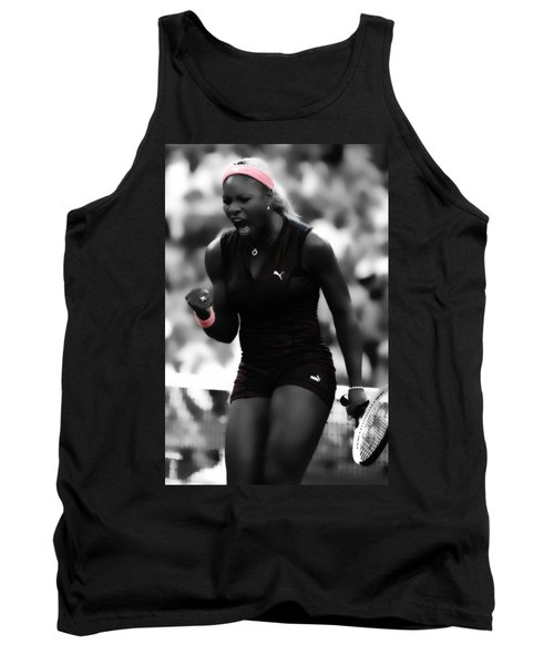Serena Williams On Fire Tank Top by Brian Reaves