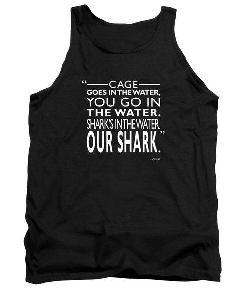 Sharks In The Water Tank Top by Mark Rogan