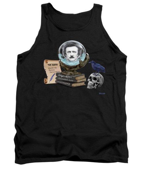 Spirit Of Edgar A. Poe Tank Top by Glenn Holbrook