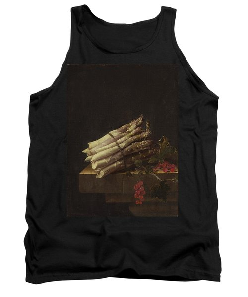Still Life With Asparagus And Red Currants Tank Top by Adriaen Coorte