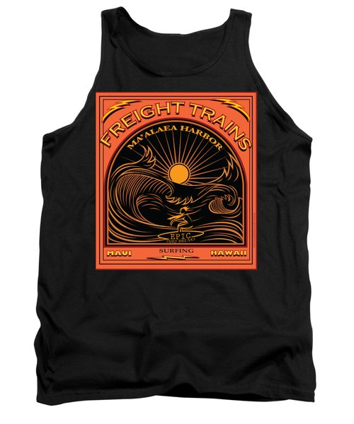 Surfer Freight Trains Maui Hawaii Tank Top by Larry Butterworth