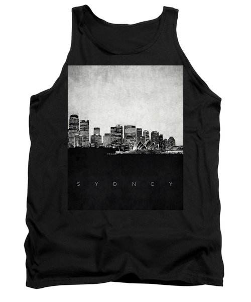 Sydney City Skyline With Opera House Tank Top by World Art Prints And Designs
