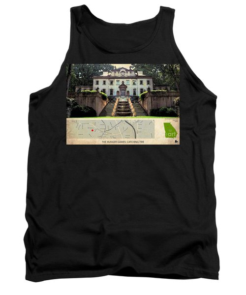The Hunger Games Catching Fire Movie Location And Map Tank Top by Pablo Franchi
