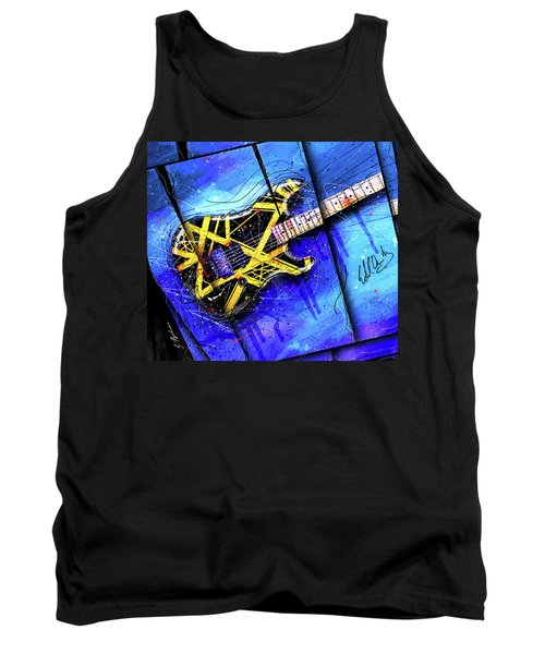 The Yellow Jacket_cropped Tank Top by Gary Bodnar