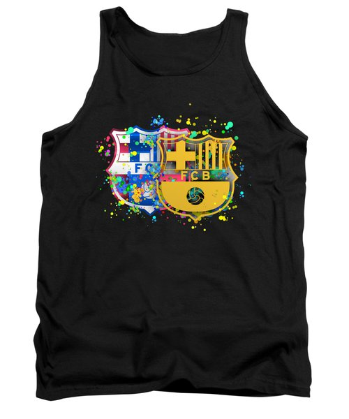 Tribute To Fc Barcelona 8 Tank Top by Alberto RuiZ
