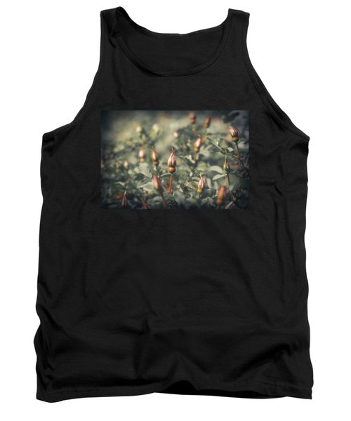 Unblown Rose Bush Tank Top by Konstantin Sevostyanov