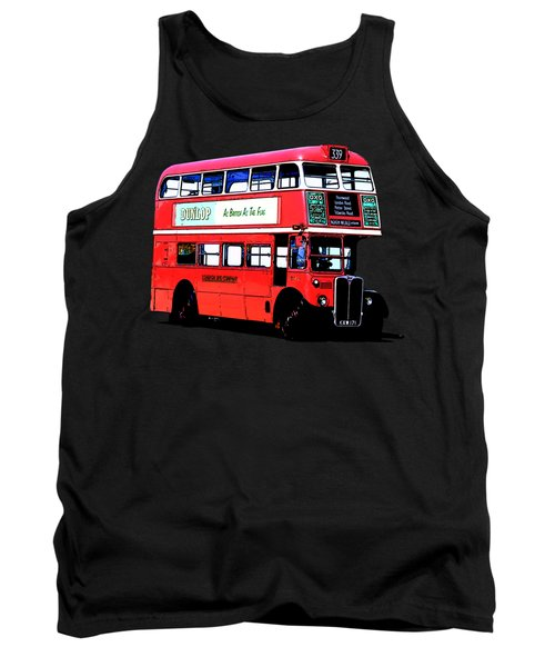 Vintage London Bus Tee Tank Top by Edward Fielding