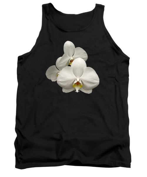 White Orchids Tank Top by Rose Santuci-Sofranko
