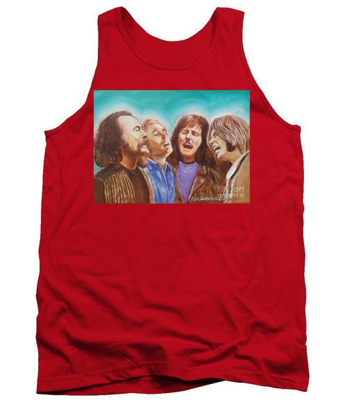 Crosby Stills Nash And Young Tank Top by Kean Butterfield