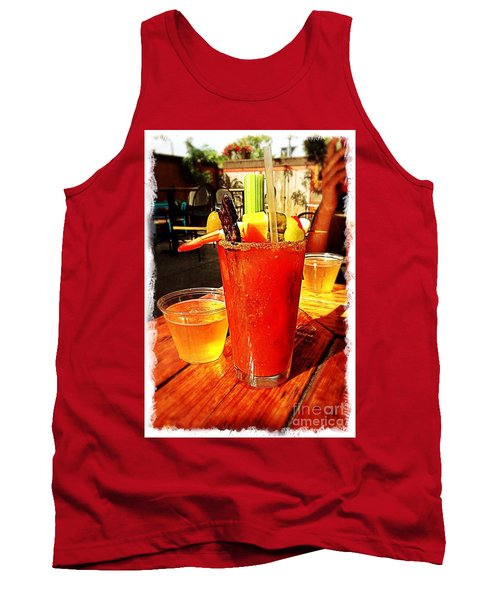 Morning Bloody Tank Top by Perry Webster