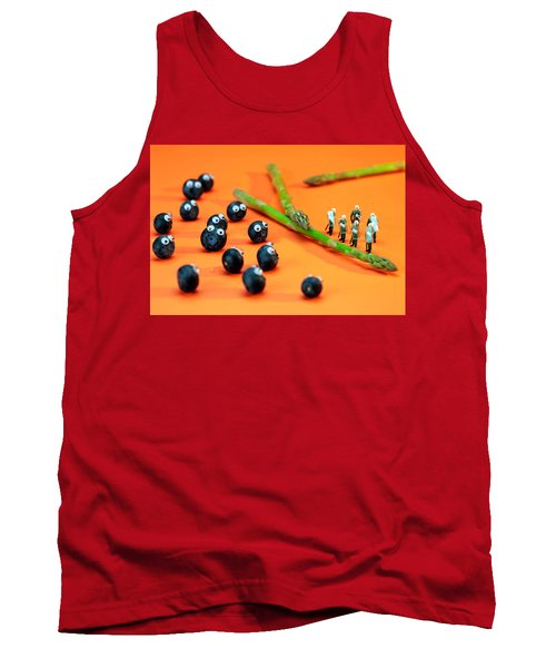 Blueberry Protesting Tank Top by Paul Ge