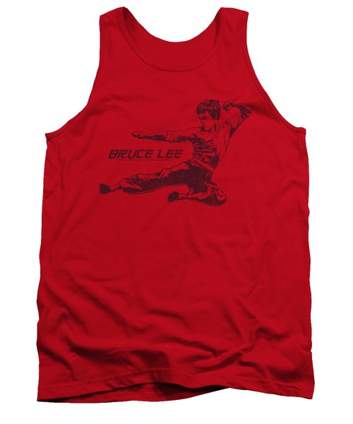Bruce Lee - Line Kick Tank Top by Brand A