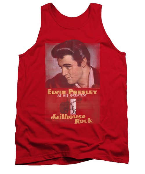 Elvis - Jailhouse Rock Poster Tank Top by Brand A