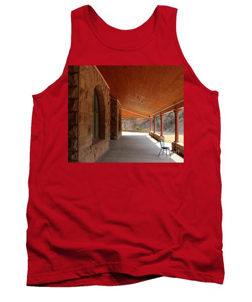 Tank Top featuring the photograph Evans Porch by Bill Gabbert