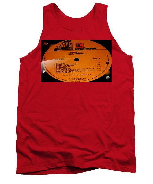 Harvest Neil Young Side 2 Tank Top by Marcello Cicchini