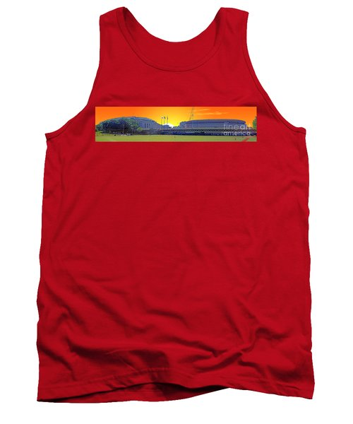 The Old And New Yankee Stadiums Side By Side At Sunset Tank Top by Nishanth Gopinathan