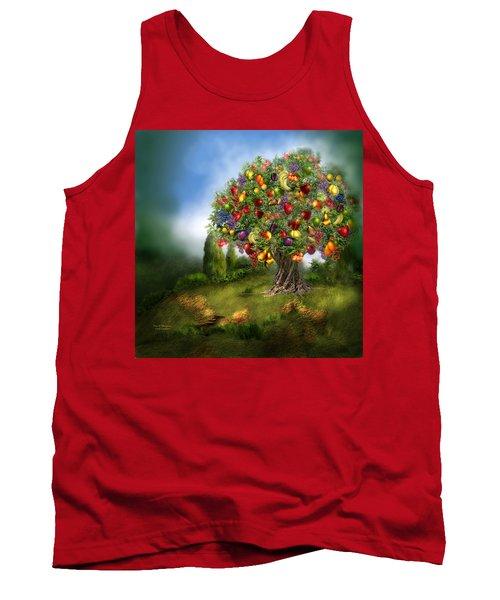 Tree Of Abundance Tank Top by Carol Cavalaris