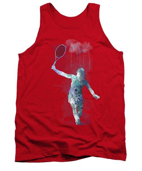 Tennis Player Tank Top by Marlene Watson