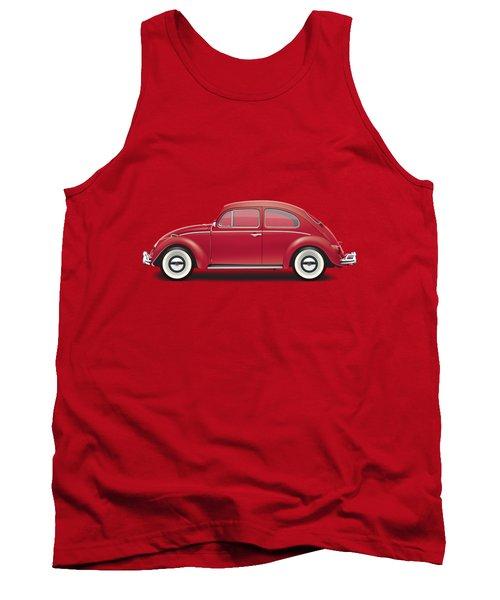 1964 Volkswagen 1200 Deluxe Sedan - Ruby Red Tank Top by Ed Jackson