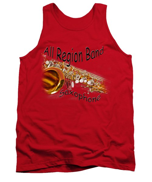 All Region Band Saxophone Tank Top by M K  Miller
