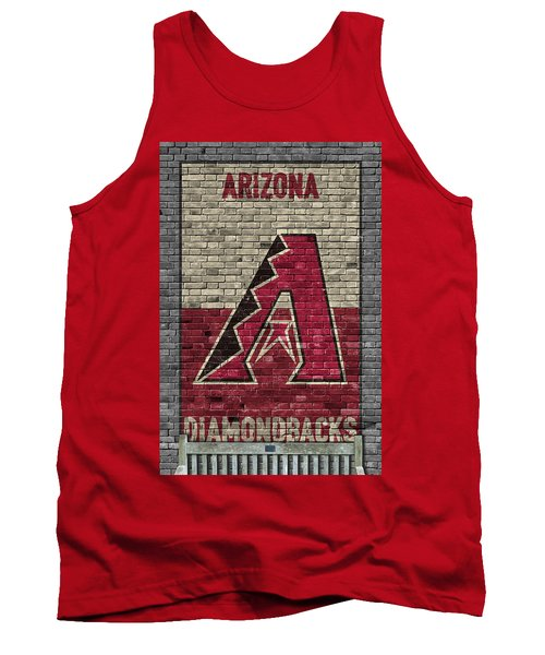 Arizona Diamondbacks Brick Wall Tank Top by Joe Hamilton