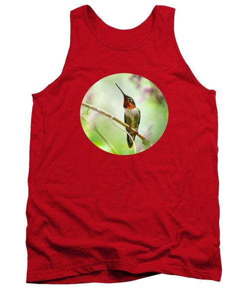 Hummingbird Looking For Love Tank Top by Christina Rollo