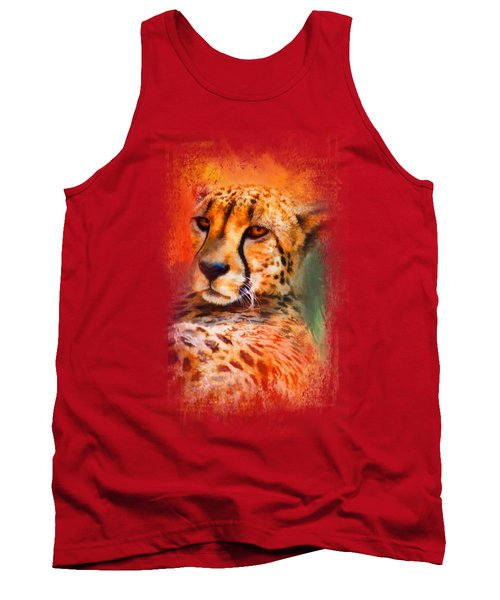 Colorful Expressions Cheetah Tank Top by Jai Johnson
